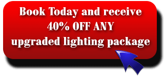 40% OFF any lighting package when you book a DJ today!